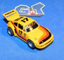 TYCO PORSCHE 935 TURBO YELLOW #17 Slot Car HO Running Chassis