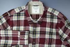 ABERCROMBIE Plaid Heavy Flannel Shirt Muscle Button Front Cotton Men's XXL NWOT