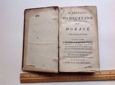 Antiquarian Book Dedication Of Horace