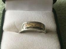 Sterling Silver & 14K Gold T.C. Case & Co. Ring Size 10