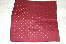 CLARET POLKA DOT SILK POCKET SQUARE/HANDKERCHIEF.