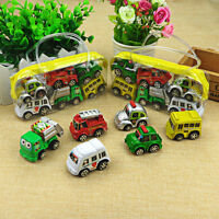 6Pcs Mini Pull Back Model Plastic Car Truck Vehicle Toys For Baby Kids Children