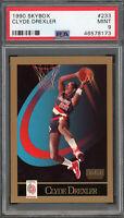 Clyde Drexler Portland Trail Blazers 1990 Skybox Basketball Card #233 PSA 9 MINT