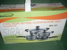 Induction Cookware Set 7 Pieces Aluminum Gray Brentwood  BPS107