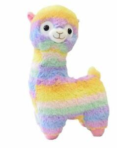 Peluche alpaca arcobaleno occhi glitter 4 misure lama fortnite enorme gigante