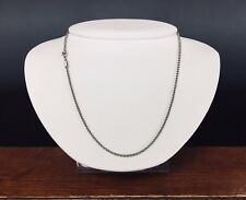 """Authentic Chopard 18k White Gold Rolo Link Chain Necklace 16.75"""" Lobster clasp"""