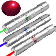3PCS 50Miles 900 Green+Blue+Red 1mw Laser Pointer Lazer Pen Beam Light USA