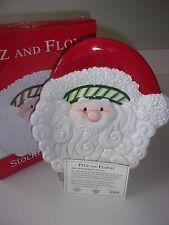 Fitz and Floyd Stocking Stuffers Santa Claus Canape Plate Nib