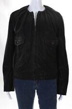 Balenciaga Paris Womens Jacket Size Italian 40 Black Leather Long Sleeve Zip Up