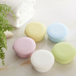 Color Soap Box Sealed Soap Case Round Travel Soap Holder Home Supplies