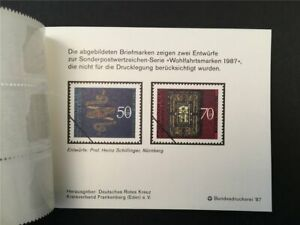GERMANY BOOKLET 1987 RED CROSS CROIX ROUGE ROTES KREUZ MOUNTAIN GUARD h4948
