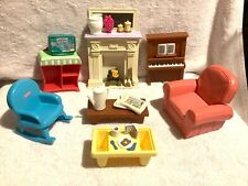 Fisher Price Loving Families Doll House Living Room Furniture & Accessories