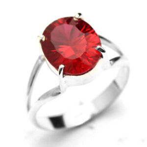 HANDMADE 925 Solid Sterling Silver Fine Jewelry Ruby Gemstone Ring Size 9.5