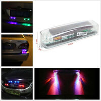 Solar Wireless Flashing Strobe recovery Grill lights Warning Emergency Fog Lamp