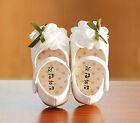 Neuf Bébé Fille Blanc Baptême Chaussures De Fête 12-15 Mois