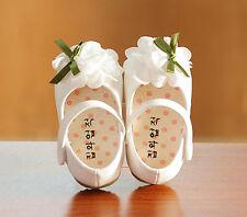 Neuf Bébé Fille Blanc Baptême Chaussures De Fête 15-18 Mois