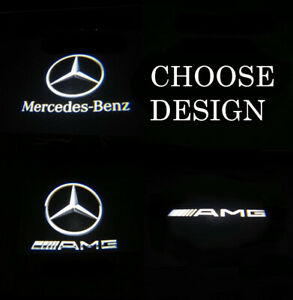 2 X LED Car Door LOGO PROJECTOR Puddle Light for Mercedes For A45 & E Class