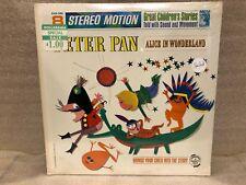 Peter Pan Alice in Wonderland Stereo Motion Childrens LP Sealed