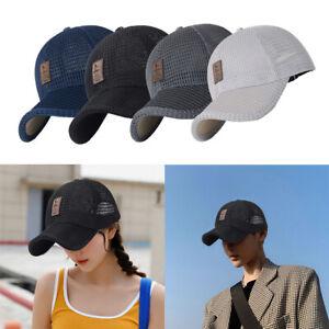 Mens Women Mesh Breathable Baseball Sports Cap Sun Protection Trucker SummerCO