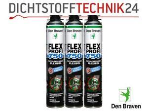 Den Braven SET Flex Profi 1K B2 Fensterschaum 3 Stück á 750ml