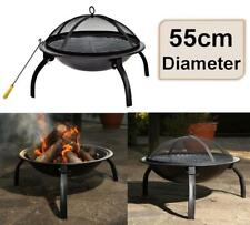 3in1 BBQ Grill Roaster Smoker Steamer - Steel Portable Outdoor Charcoal NS E2