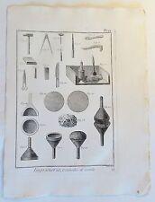 Gravure/cuivre clés pour 1780 v B. Direxit: imprimerie ustensiles et outils