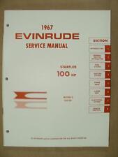 1967 OMC EVINRUDE 100 HP STARFLITE OUTBOARD MOTOR SERVICE REPAIR MANUAL 4360