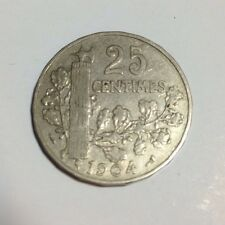 1904 France 25 Centimes Coin Good Condition