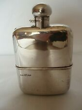 HIP FLASK VINTAGE SILVER PLATED SHEFFIELD CIRCA 1910