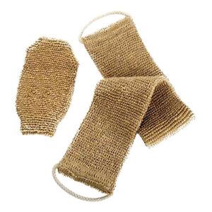 Homgaty Hemp Back Scrubber Body Washer Brush Scrubber Natural Exfoliating Gloves