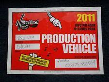 EMINEM - V Festival, 20th & 21st Aug 2011, Backstage Crew Vehicle Pass, RIHANNA