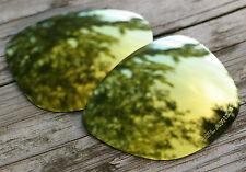 Polarized 24k Yellow Gold Mirrored Sunglass Lenses for Oakley Jupiter Grey Tint