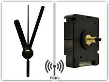 Funkuhrwerk DCF Radio Funk lautlos geräuschlos Uhrzeiger Satz Schwarz 45 mm #47