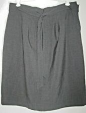 Ann Taylor Petite Size 12P Dark Gray Fully Lined Skirt With Self Belt / Tie