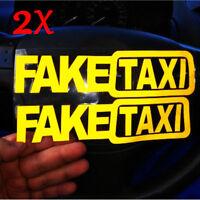 2pcs Fake Taxi Sticker Decal Funny Vinyl Car Bumper