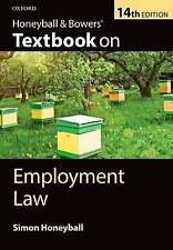 Honeyball & Bowers Textbook on Employment Law 14/e,PB,Simon Honeyball - NEW