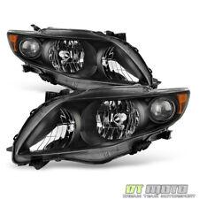 For 2009-2010 Toyota Corolla S/XRS Headlights Amber Reflector Headlamps 09-10