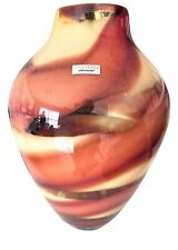 """Waterford Evolution Crystal Red Sea Vase 17"""" Art Glass NEW"""