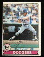 RON CEY 1979 TOPPS Autograph Signed AUTO Baseball Card 190 DODGERS