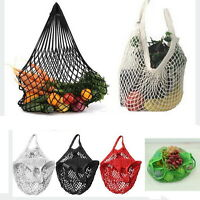Reusable Shopping String Storage Mesh Bag Grocery Handbag Fishnet Woven Net Bu