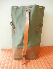 Rar Vintage Swiss Army Military Sea Bag Seesack CH green Canvas + Leather 1967