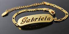 Gabriela-Bracciale con nome - 18CT GIALLO ORO placcato-regalo per lei-Fashion