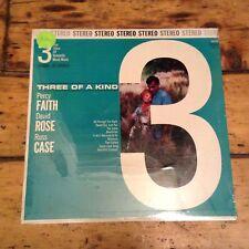 "STILL SEALED ""Three of a Kind"" Percy Faith - David Rose - Russ Case LP DLP 901"