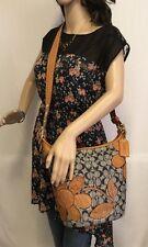 Coach Bleeker Signature Denim Leather Floral Applique Duffle Bag, #11781 - EUC