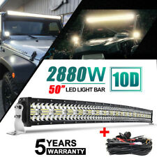 "50""inch 2880W Curved LED Light Bar Combo Offroad Roof Light For Truck ATV PK 52"""