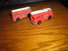 Vintage Lot of 2 Playart Ladder Fire Tender Rescue Truck Emergency Vehicles