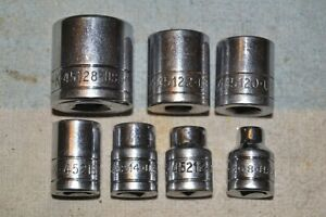 S-K 45xxx REGULAR SOCKET GROUP 3/8 drive 12 point 7 pcs QUALITY VINTAGE USA TOOL