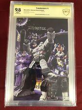 Transformers 1 CBCS 9.8 SS Showcase comics Edition Silver Signature