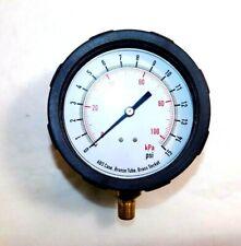 "4EFF2 Test Pressure Gauge 4"" Dial Diameter 0 to 15 psi Range 1/4 MNPT Connection"
