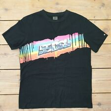 55DSL Diesel Mens Shirt Black Graffiti Skate Medium